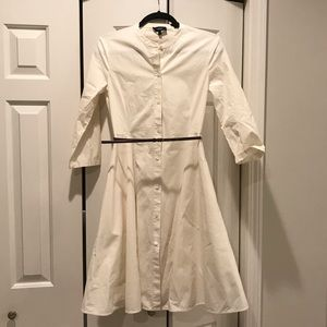 Theory Cream Belted Dress